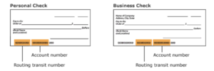 image of business and personal checks